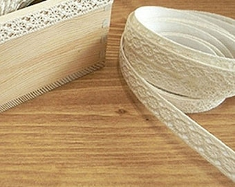 Natural Lace Adhesive Fabric Tape - 02.Beige (0.5in)
