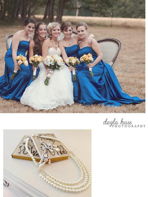 Naomi - Vintage Inspired Evening or Bridal Necklace for your Elegant Wedding