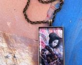 Micheeko Geisha Girl Pendant Necklace