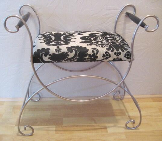 zoom vintage vanity bench seat