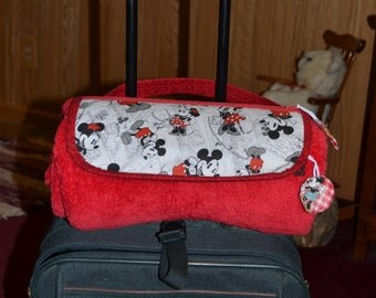Red, White, and Black Dinsey Travel Blanket