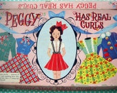 peggy has real curls / 1950s paper doll set