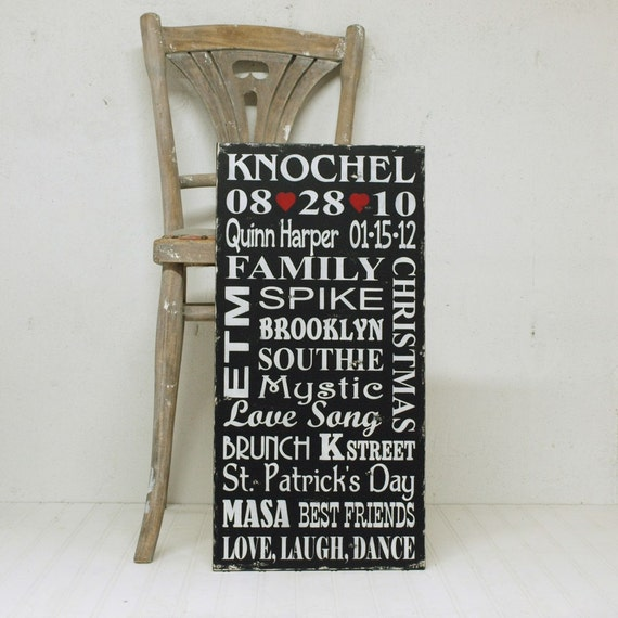 Personalized Wedding Sign or Personalized Family Rules Sign, Family Memory Sign, Wood Sign