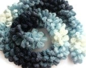 50% Off - CLEARANCE SALE - Blue Crocheted Trendy Scarf -  Fashion Scarflette