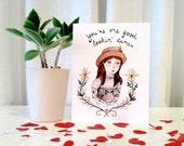 Good Lookin' Dame Greeting Card