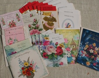 Vintage Greeting Cards Assortment Lot of 26 Birthday Get Well Thinking of You Anniversary