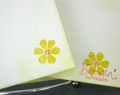 Flat Stationery Handmade Yellow Daisy 15 Note Cards With 10 Envelopes Stationary Writing Correspondence Paper
