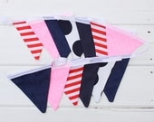 Bunting Navy Red Neon Pink Good Will Bunting Cleo
