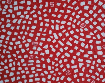Hello Dahlia from P & B Textiles -- Red and White Geometric Quilt Fabric