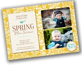 INSTANT DOWNLOAD - Photography Marketing board - 5x7 Newsletter template - 0697