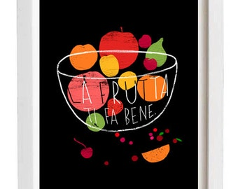 "La Frutta Print 11""x15"" - archival fine art giclée print"