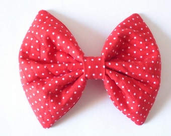 Rockabilly Red Hair Bow For Girls, For Women