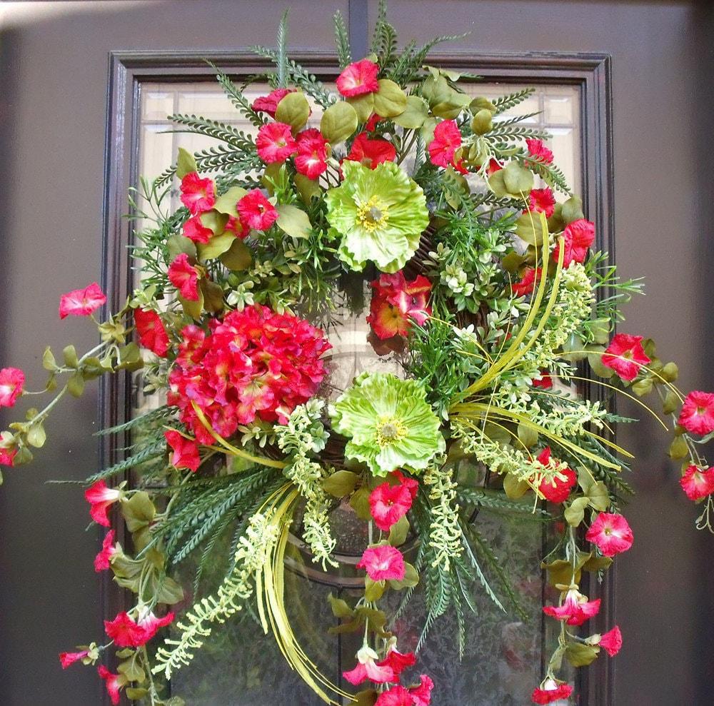 Summer Door Wreaths Wild and Woodsy Wreath Summer Wreaths