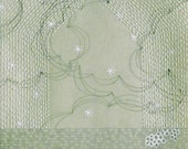 The Celadon Drawings no. 3 / drawing and embroidery on Japanese paper