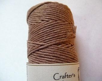 Cord, Polished Hemp, Light Brown, 1mm, Diameter, 20 pound test, Sold Per 25 Feet