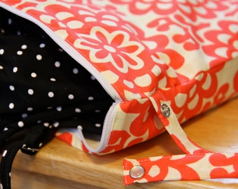 Wet Bag -  Lotus Flower, Amy Butler - Dry Bag