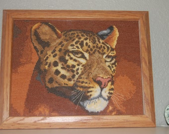 COMPLETED AND FRAMED - Leopard
