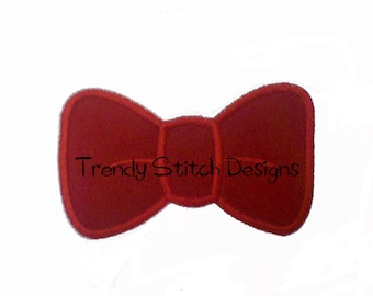 Bow Tie Bowtie Applique Design Machine Embroidery INSTANT DOWNLOAD