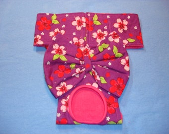 Female Dog Diaper - Panties - Tropical Floral Print - XXS - X Small