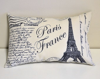 Paris France pillow