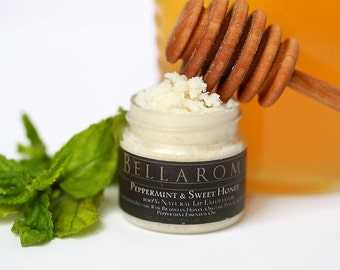 Peppermint and Sweet Honey - LIP EXFOLIATOR- Exclusively Handmade for Jenna Fischer
