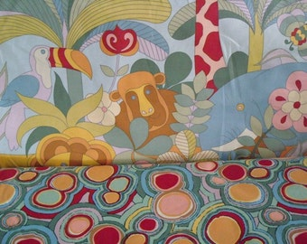 Jumo Jungle and Jumo Dots Fabric by Alexander Henry- 1 yard each-Total of 2 yards