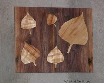 Wood Wall Art Leaves - Leaf Art - Home Decor - Office Decor