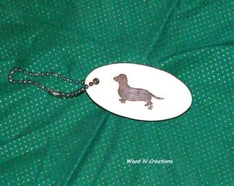 Keychain  Dachshund - Key Ring Accessory - Animal Theme Key Holder