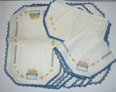 Placemats, Napkins and Centerpiece - Vintage Table Linens - CLEARANCE SALE