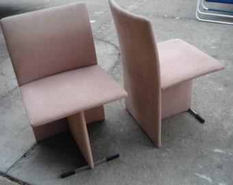 Vintage Pair of Mid Century MCM Modern Italian Chairs by Saporiti