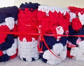 Red White and Blue Dish Cloths Set of 4 Crochet Dish Cloths Cleaning Cloths Kitchen Cloths Americana Decor