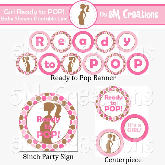 Unavailable listing on etsy for Ready to pop free printable template