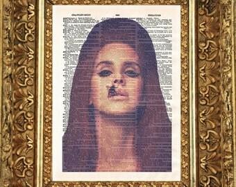 Lana Del Rey Dictionary Art
