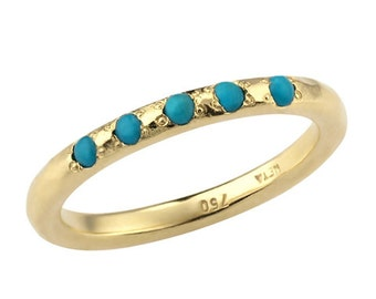 gold turquoise wedding band turquoise jewelry december birthstone gold wedding band turquoise - Turquoise Wedding Ring