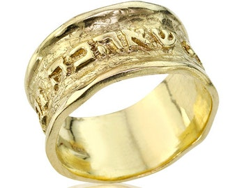 i have found the one my soul loves gold wedding band wide wedding ring - The One Ring Wedding Band