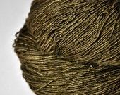 Dried brown algae  - Tussah Silk Fingering Yarn