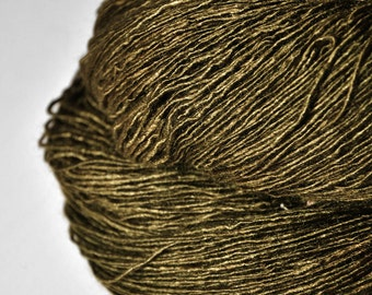 Dried brown algae  - Tussah Silk Fingering Yarn