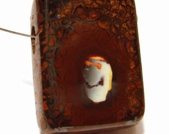 Boulder Opal - Koroit Yowah Nut Australian Boulder Opal Bead Side Drilled - Fetus on Back