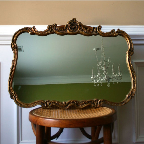 Gold Mirror Home Decor Vintage Gold Hollywood by
