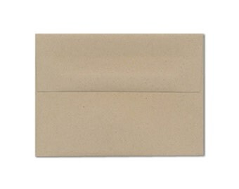 A7 Brown Kraft Envelopes 100% Post Consumer Waste and Eco-Friendly Paper for 5 x 7 Invitations, Photos and Cards, Brown Kraft, Pack of 25