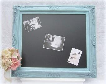 """KITCHEN CHALKBOARDS For Sale Wedding Decor Teal Wedding Menu Board Vintage Wedding Framed Chalkboard 31""""x 27"""" Teal Blue New Home Gift"""