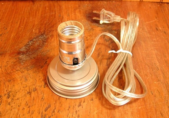 Mason Jar Lamp Adapter Kit Electrical Parts