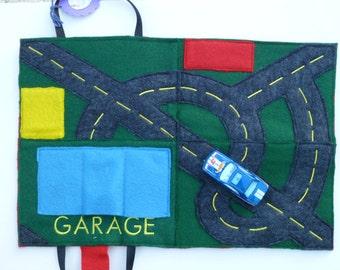 Car Playmat Felt Hotwheels Travel Mat