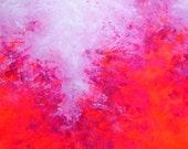 NEW Elena 40x40 abstract pink painting original painting contemporary huge large art Feb 9