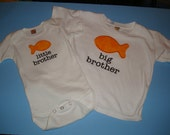 Rush Order for Bethany Big/Little Brother - Size 3T & 3-6 Months in White