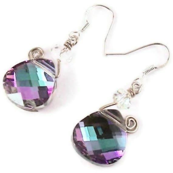 Super Gorgeous Swarovski Crystal Swirl Earrings
