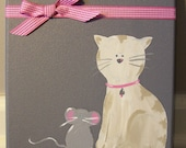 Grey & Pink Kitty