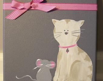 Grey & Pink Kitty
