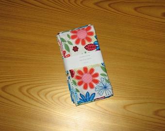 Spring Floral Cloth Napkins Set of 4