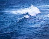 Wave photography, summer sea, ocean, Pacific, Nautical, Nature, Blue, Indigo, Cobalt-Am I Blue